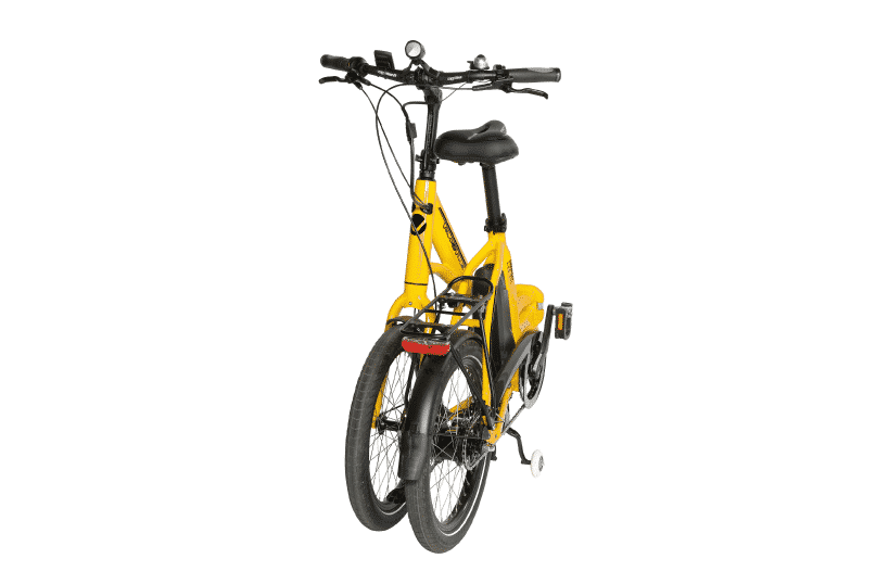 Vélo électrique replié