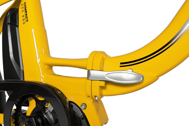 Vélo électrique pliable système de pliage