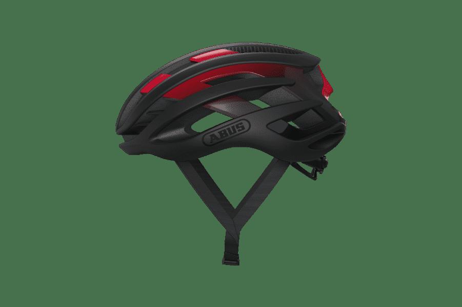 casque vélo route rouge et noir