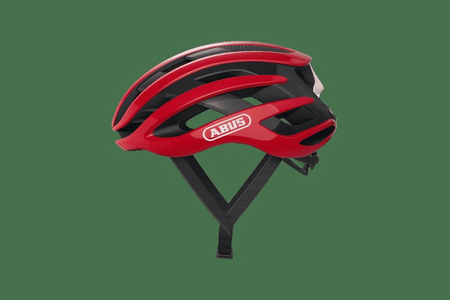 casque vélo route rouge