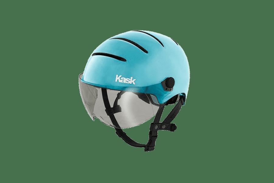 casque de vélo design bleu