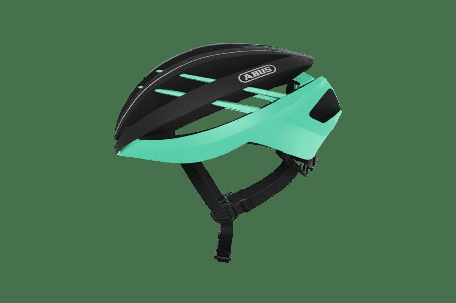 casque de vélo route vert et noir