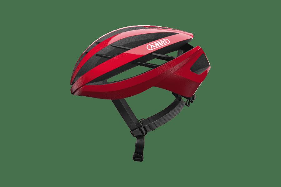 casque de vélo route rouge