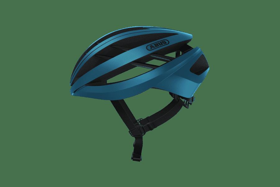 casque de vélo route bleu