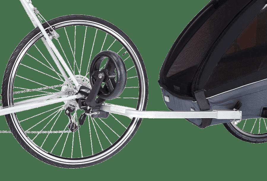 remorque vélo enfant simple d'utilisation