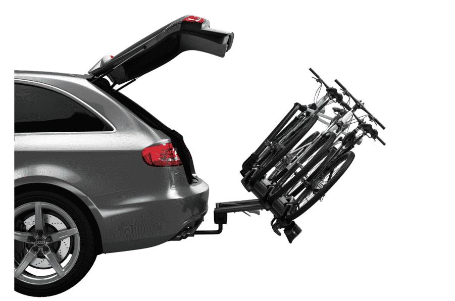 Porte-vélos boule d'attelage à bascule